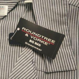 Roundtree& Yorks Big Mans Pajama Top New